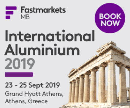 International Aluminium 2019 - Αθήνα, 23-25/9/2019